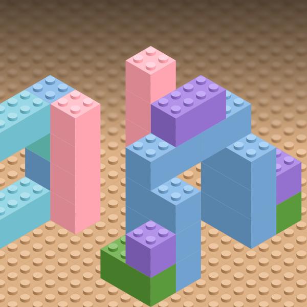 isometric lego inkscape