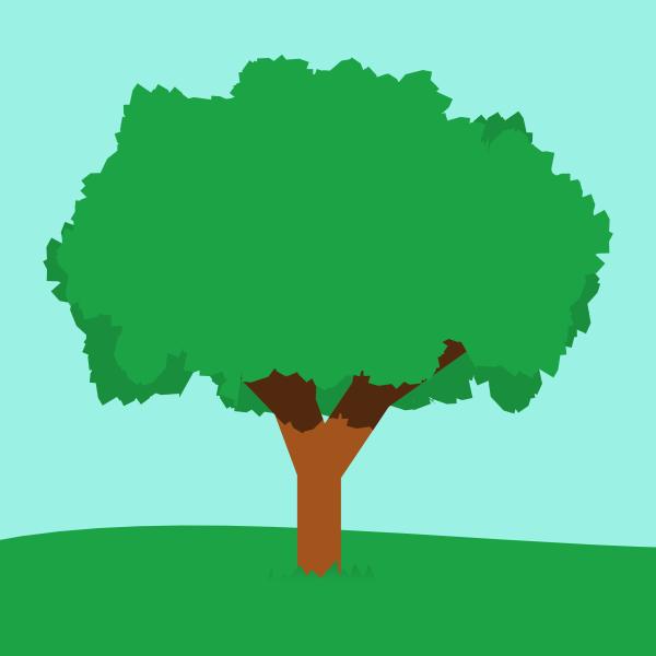 draw a tree in inkscape