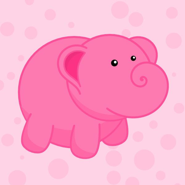 pink elephant cartoon