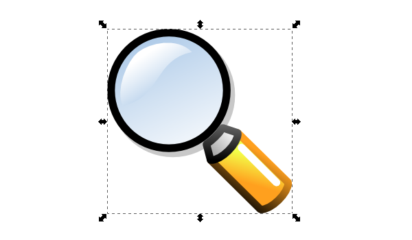 inkscape magnifying glass