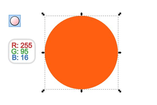 perfect orange circle