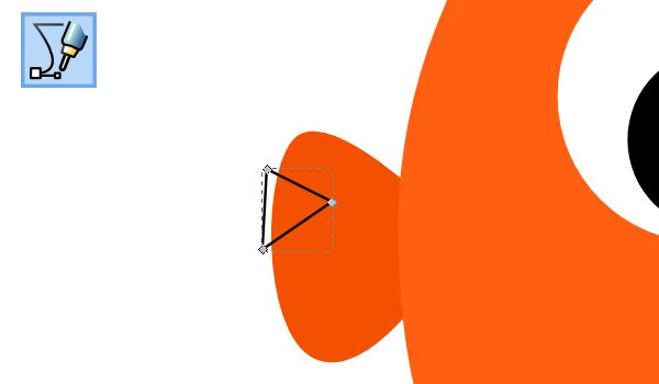 triangle over fin