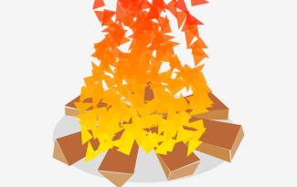 abstract bonfire drawing