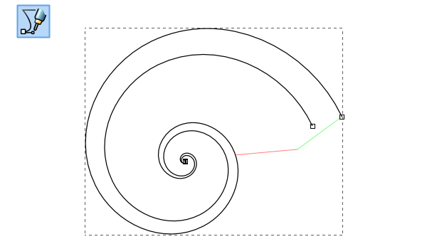 Drawing Smooth Lines In Gimp : Drawing a sea shell with the spiral tool inkscape gimp