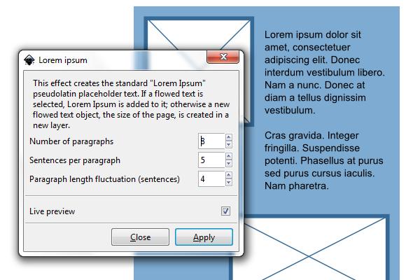 lorem ipsum generator inkscape