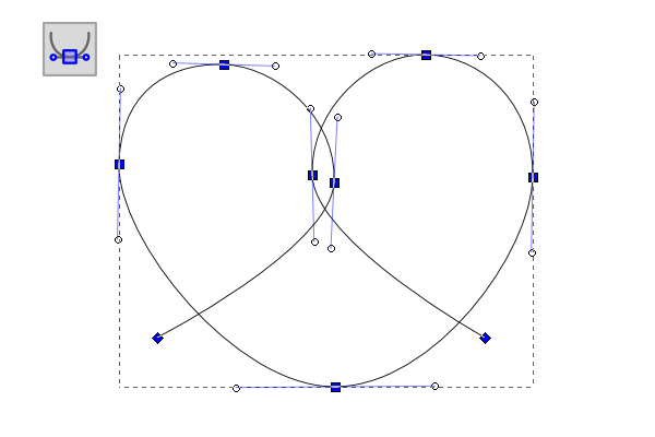 rounded pretzel shape