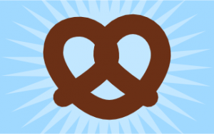 easy pretzel drawing