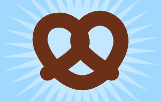 how to draw a pretzel step by step