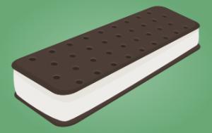 ice cream sandwich drawing