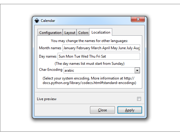 inkscape calendar extension