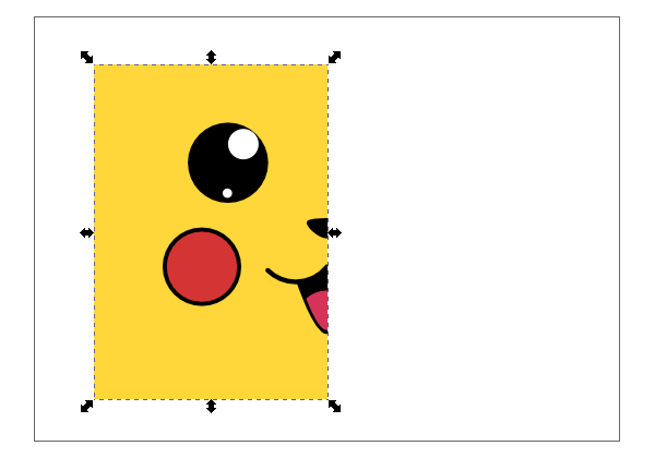 inkscape cropped pikachu