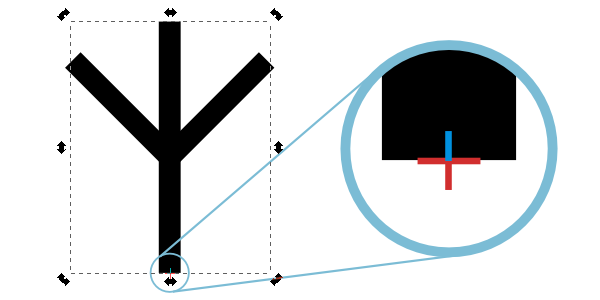 inkscape point of rotation