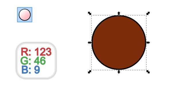 brown circle tool