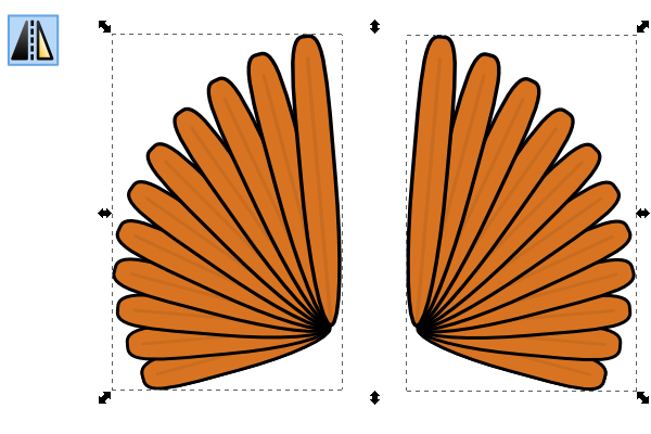 turkey feather left and right