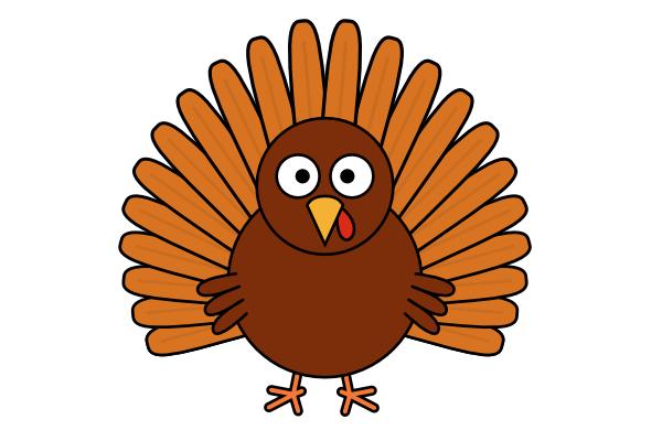 simple turkey clip art