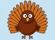 cartoon turkey clip art