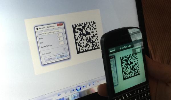 scan barcode datamatrix