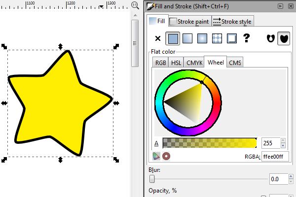 inkscape change color