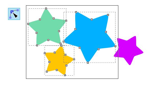 inkscape nodes selector