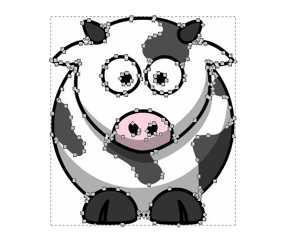 vectorized color inkscape