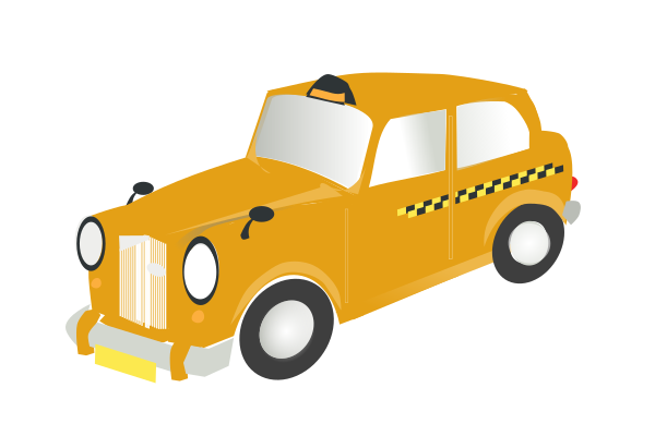 yellow british taxi clip art