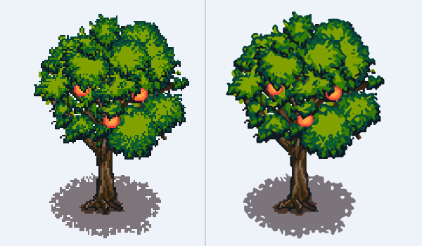 pixel art vs vector
