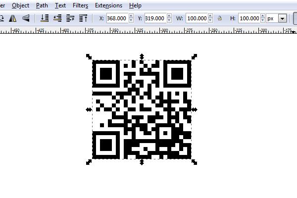 white lines in qr code