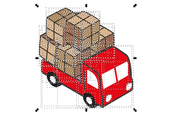 isometric truck ungroup