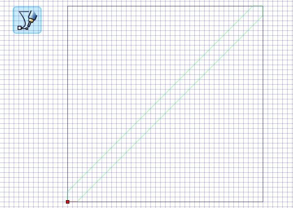 draw diagonal stripe